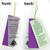 Raffia Tie Seeded Paper Plant-A-Shape Bookmarks
